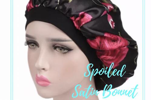 Spoiled Satin Bonnet (Black)