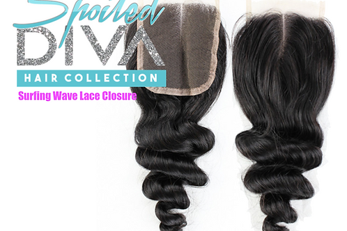 SURFING WAVES LACE CLOSURE