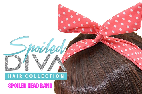 Pink / White Spoiled Head Band