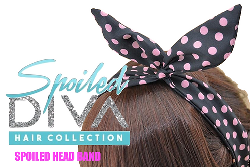 Black / Pink Spoiled Head Band