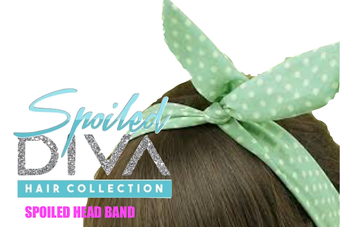 Teal / White Spoiled Head Band