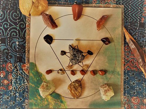 Grounding & Shadow Work Sacred Geometric Crystal Energy Spiritual Healing Grid