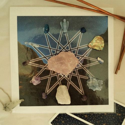 Heavenly & Earthly Communication & Angelic Healing Sacred Geometric Crystal Gri