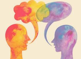 Gemalte Personen die Psychotherapeutische Selbsterfahrung in Graz darstellen