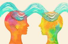 Zwei gemalte Personen die Psychotherapeutische Selbsterfahrung in Graz darstellen