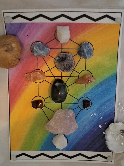 Crystal Reiki Pre-Charged Grid - Physical Healing & Long Term Spiritual Healing