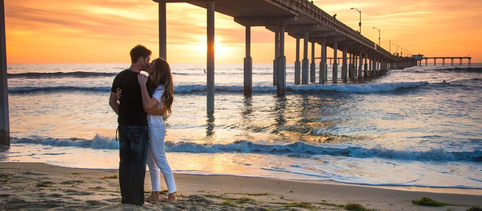 Sunset Cliffs & Ocean Beach Pier Sunset Engagement Session