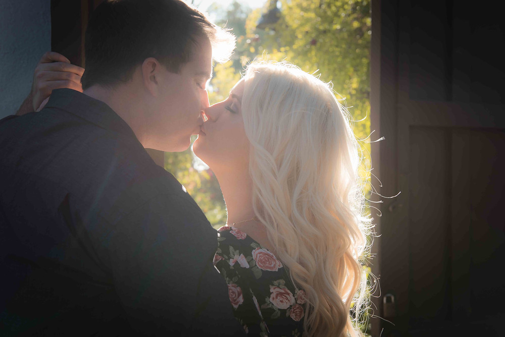 Mission San Diego, engagement, photography, love, kiss, San Diego
