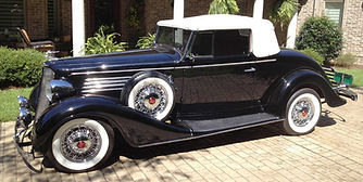 1935 Buick with wire wheels
