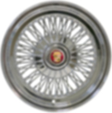 72-Spoke wire wheel with HEX cap