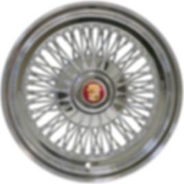 72-Spoke wire wheel with HEX cap
