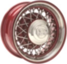 Truespoke Hot Rod 52 Color & Chrome wire wheel
