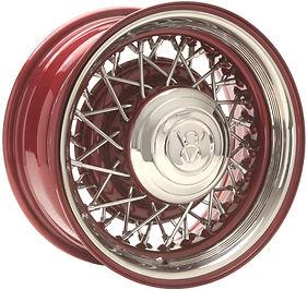 Truespoke Hot Rod 52 Color & Chrome Wire Wheels