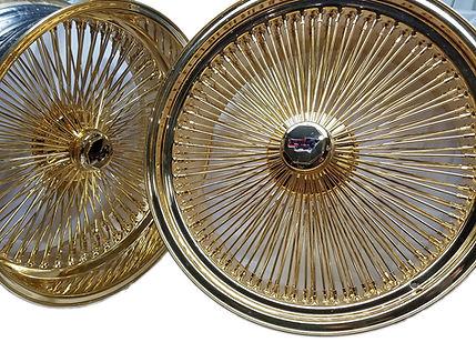 24K Gold Plated 24 Inch Dayton Wire Wheels