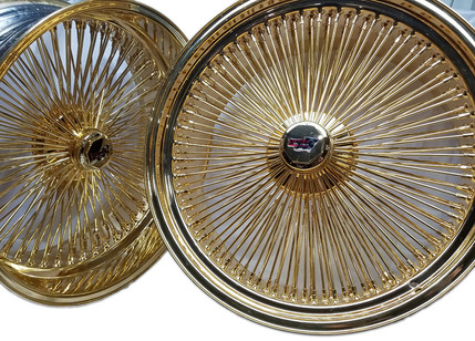 24K Gold Plated 24 Inch Dayton Wire Wheels