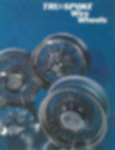 1980's Truespoke® Catalog with Truespoke®, Trueray® and Trueclassic® wire wheels shown