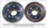 Comparison of modern Truespoke® wheel hub and vintage Truespok® hub