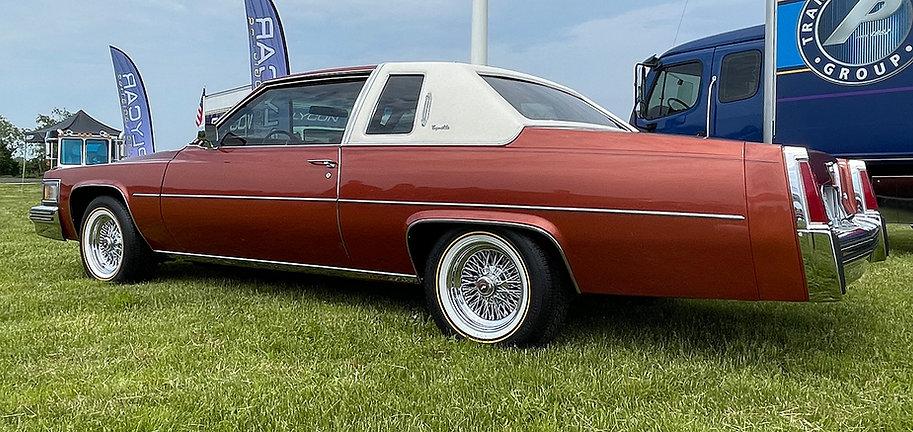 1977 Cadillac Coupe DeVille on Truespoke Wire Wheels