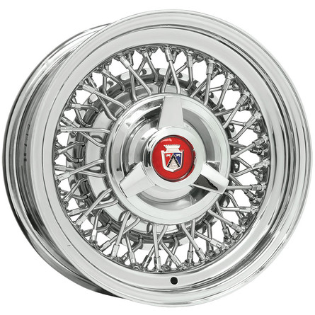 Ford wire wheel with spinner hubcap
