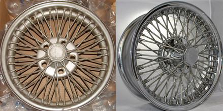 Avanti wire wheel before and after Truespoke restoration