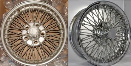 Avanti wire wheel before and after Truespoke restoration