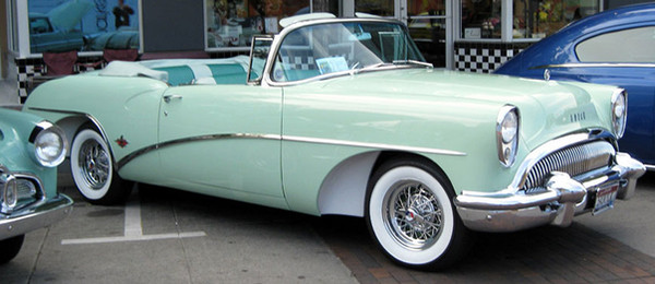 Buick Skylark with Kelsey Hayes 40 spoke wire wheels restored by Truespoke