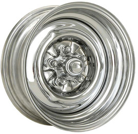 OEM Chrome Reverse wheel with Spider Bullet Cap