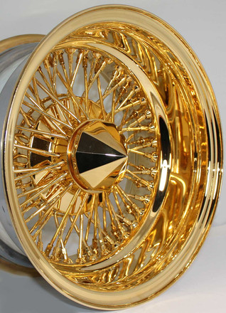 24K Gold Plated Wire Wheel