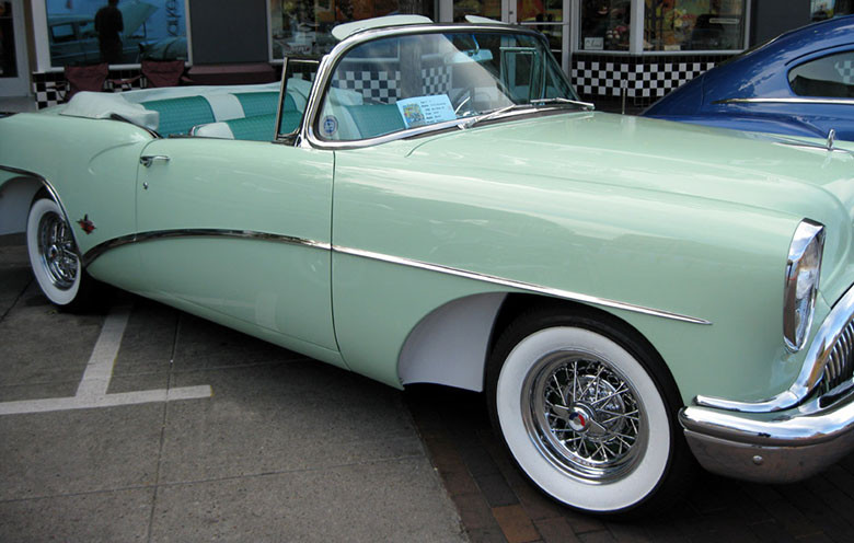 Buick Skylark with wire wheels restored by Truespoke