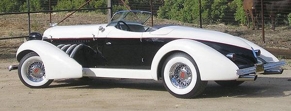 Auburn Replica with 16 X 10 inch wide 56-Spoke® Wire Wheels