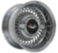 Trueray wire wheel with 1959-60 Chevrolet spinner cap