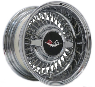 Trueray wire wheel with 1959-60 Chevrolet spinner cap