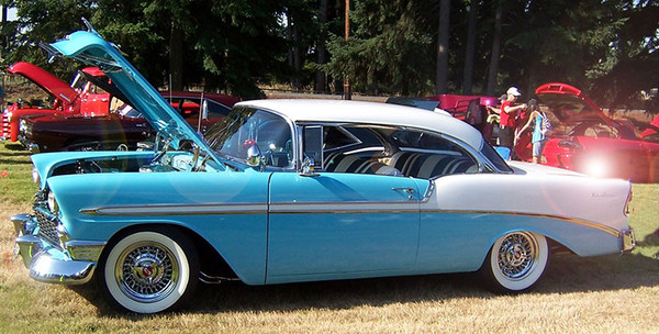 1956 Chevrolet with wire wheels