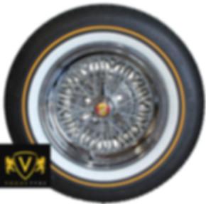 50 Spoke Truespoke Wire Wheel with a Vogue Tire