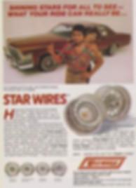 Vintage Star Wire Wheel Ad