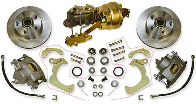 Disc brake coversion kit for Cadillac