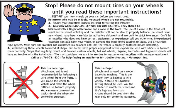 Warning to tire shops before they mount wire wheels