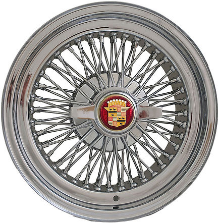 Truewire® 72-Spoke Knock-off wire wheel with 2-blade spinner