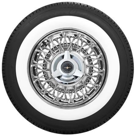 Thunderbird Wire Wheel by Truespoke® with wide whitewall tire package
