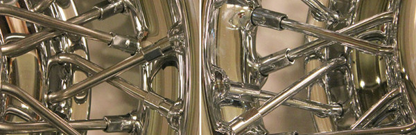 Comparison of stainless steel and chrome plated steel