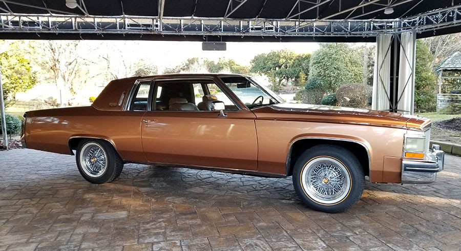 1980 Cadillac with Brougham 50 wire wheels and Vogue Tires