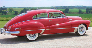 1946 Buick with wire wheels
