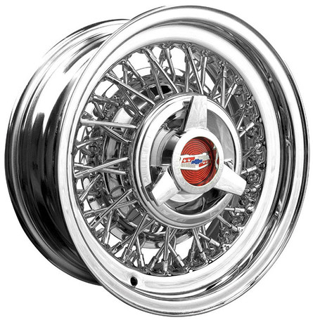 Chevrolet wire wheel with spinner ca