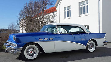 1956 Buick with wire wheels