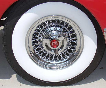 Buick Wire Wheel and Whitewall Tire