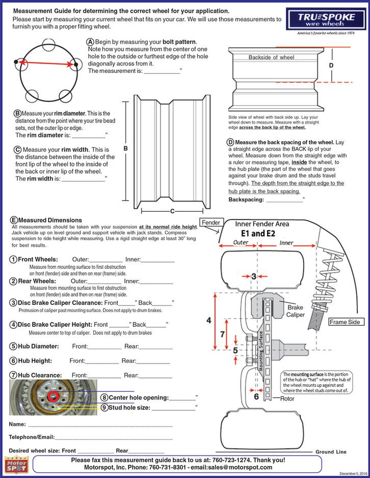 Wheel Measuring Guide for Truespoke Wire Wheels