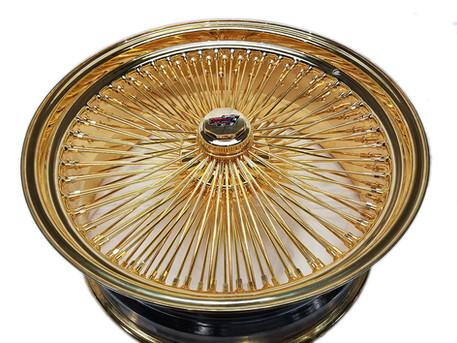 144 Spoke All Gold Dayton Wire Wheels