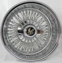 "Front view 14 X 7"" REVERSE Truewire® 72 Spoke Cross Lace wire wheel"