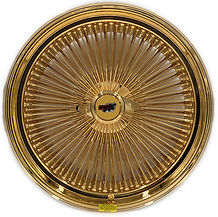 24 Inch Dayton Wire Wheel Gold Plated with 24K Gold