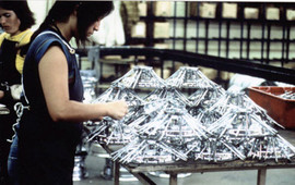Assembly line during the '80's at Cragar Wheel Company